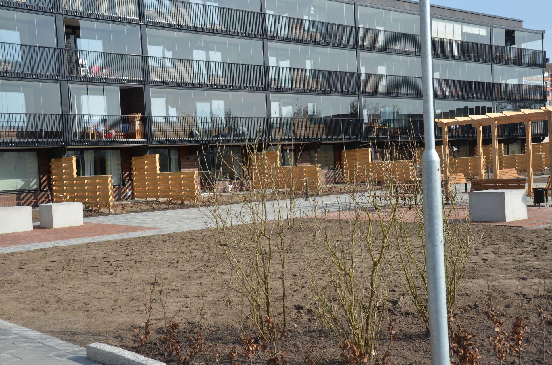 Bjäre Entreprenad har bytt ut inkommande värme, vatten och avlopp samt finplanering av Närlunda Helsingborg