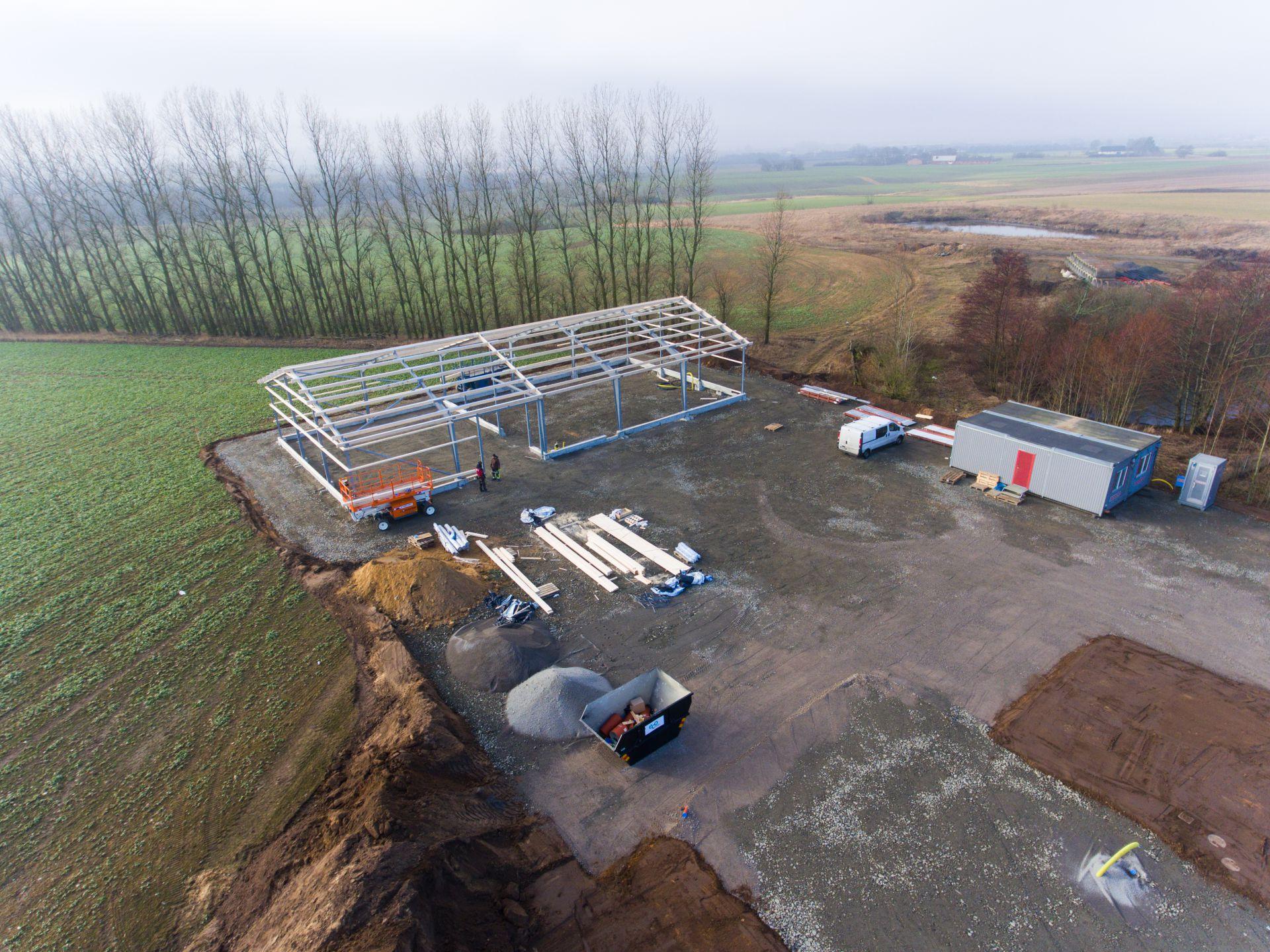 Bjäre Entreprenad arbetar med grundläggning och finplanering av Gesällgatan i Munka-Ljungby till ny lokal