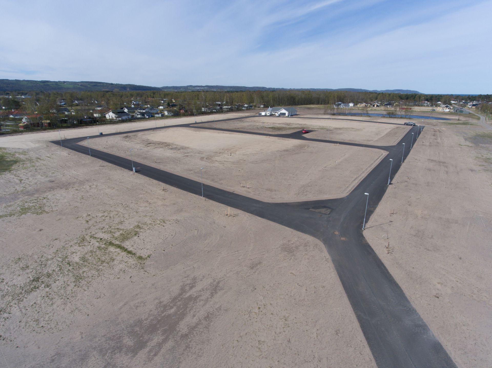 Bjäre Entreprenad färdigställer ett nytt etableringsområde i Skummeslövsstrand Båstad