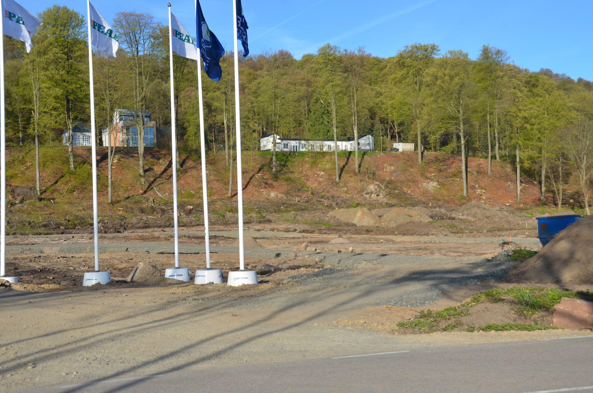 Bjäre Entreprenad jobbar med markentreprenad vid byggprojektet Norrviken i Båstad