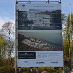 Bild på affisch av hur Norrviken i Båstad kommer se ut när den är klar