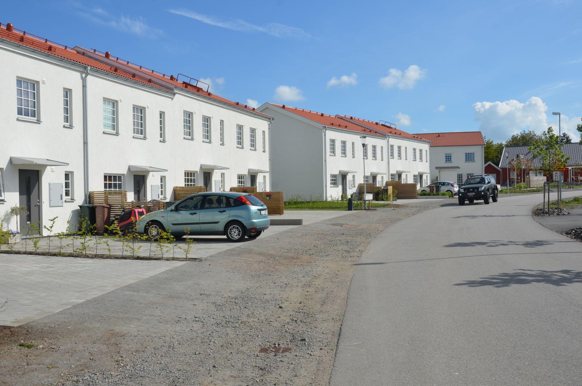 Bjäre Entreprenad grundlägger för radhus åt Bostadsrättsföreningen Drängen 1 i Ystad.