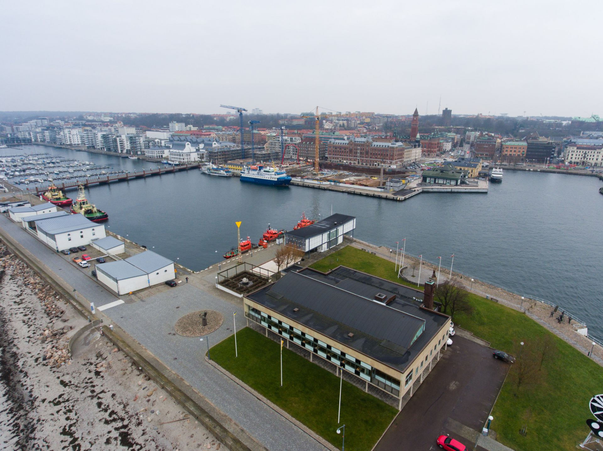 Översikt utav läget för kongresshuset i Helsingborg