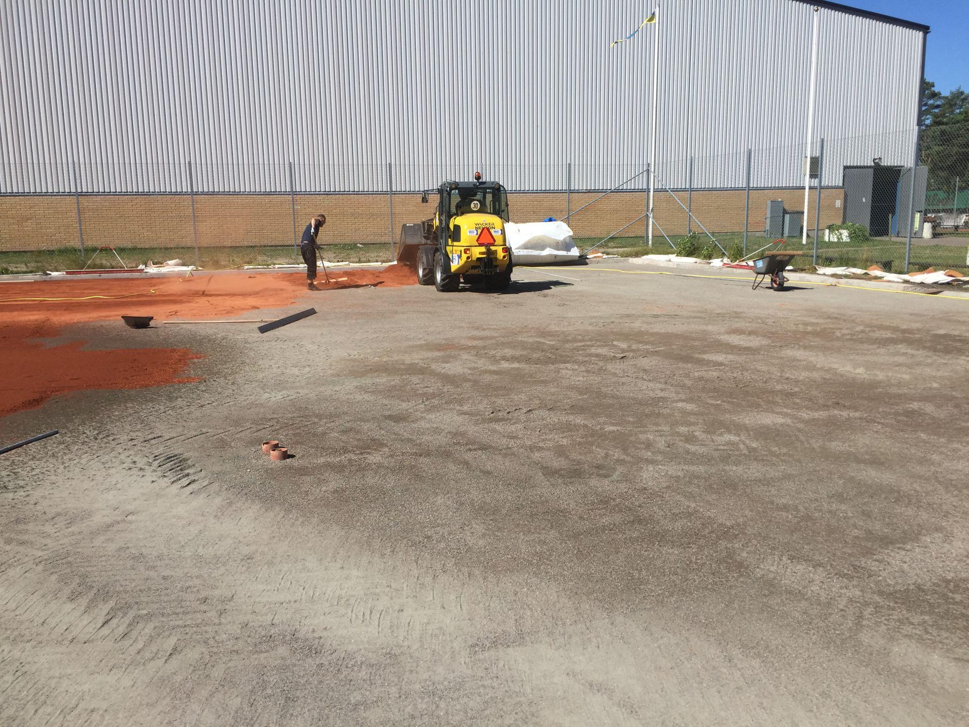 Bjäre Entreprenad anlägger nya tennisbanor i Höllviken för Rantzows Sport