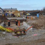 Bjäre Entreprenad gör markarbete, yttre VA och finplanering för Värpinge gård i Lund.