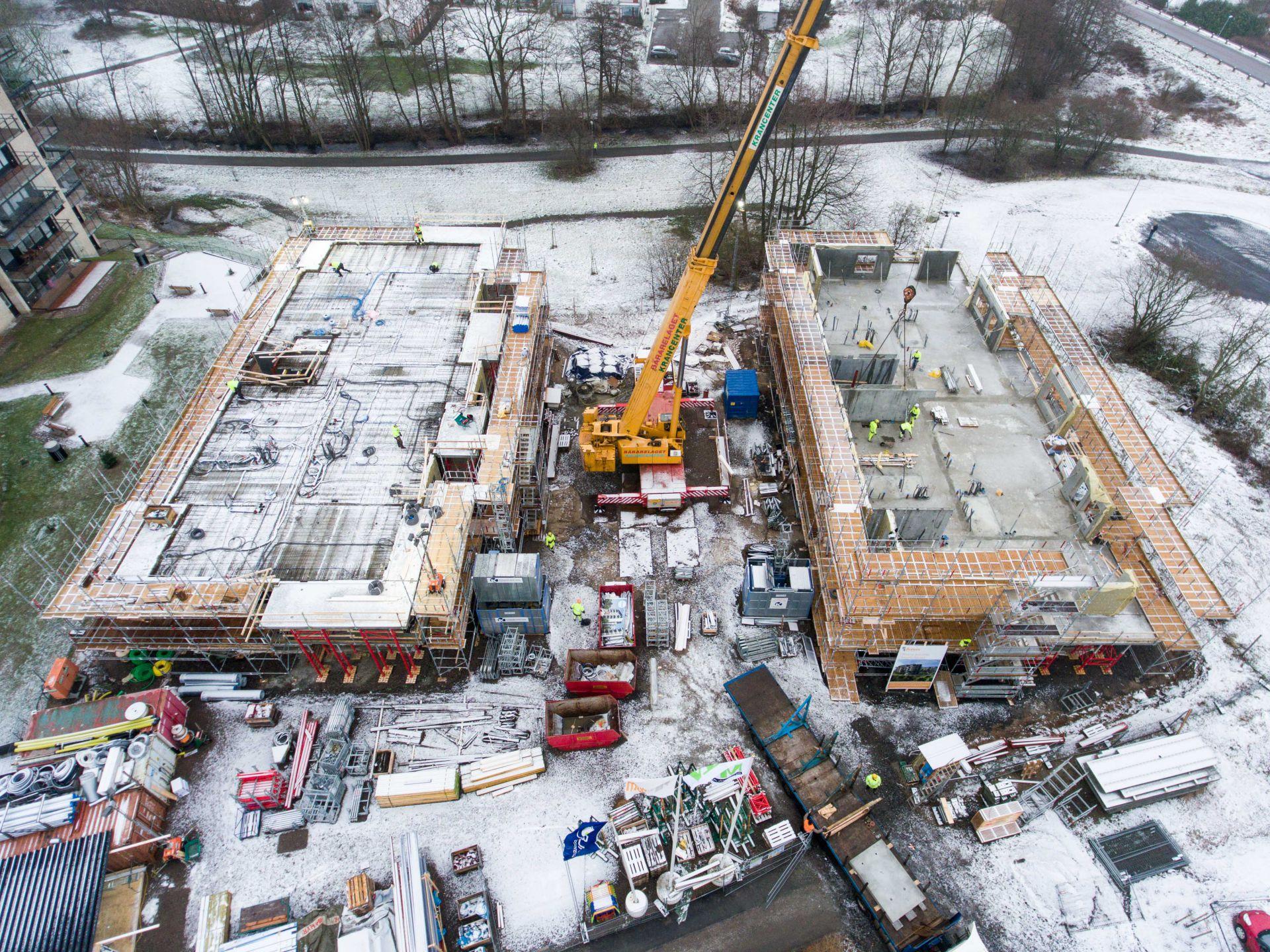 Byggplats för Apelgården och Armobacken i Båstad översikt