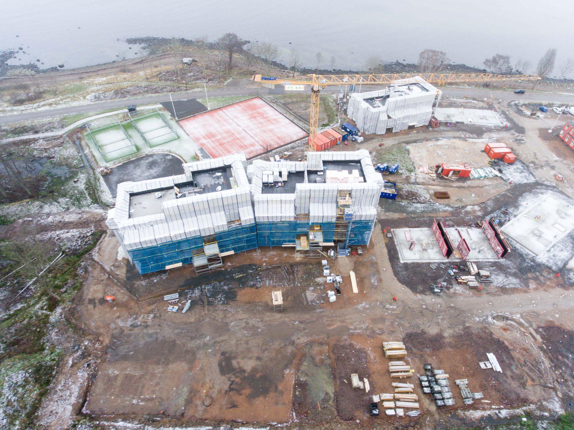 Foto på byggprojektet Norrviken Båstad med landskapet runtomkring